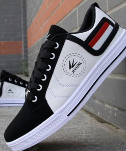 Men's Shoes Leatherette Fall Vulcanized Shoes Comfort for Casual White Red Yellow