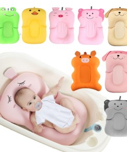 Baby Shower Portable Air Cushion Bed Baby Bath Pad Non-Slip Bathtub Mat Safety Security Bath Seat Support