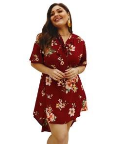Explosion models 2020 spring and summer elegant print dress
