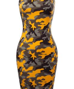 Made by Olivia Women's Solid/Print Tube Top Sexy Strapless Bodycon Club Dress