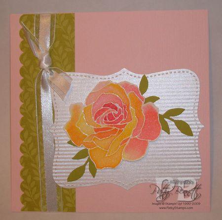 Watercolor rose 6x6
