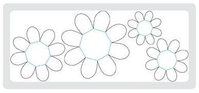 Flower folds die