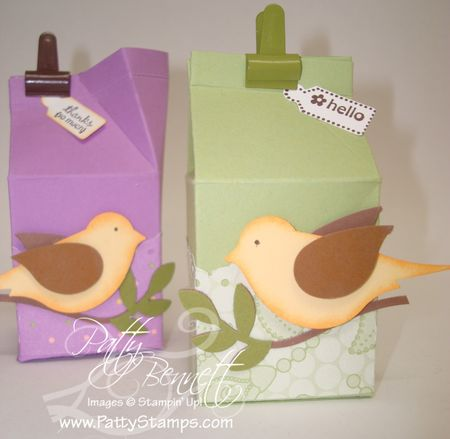 Milk carton bird
