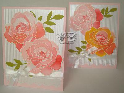 Watercolor rose cards