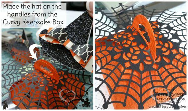 Halloween-witches-hat-pumpkin-stampin-up-spider-web-doily
