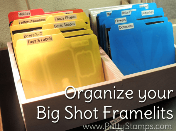 Organize your Stampin' UP! Big Shot Framelits and Thinlits with boxes and magnet sheets by Stamp n Storage.  Watch the video tutorial by Patty Bennett at www.PattyStamps.com