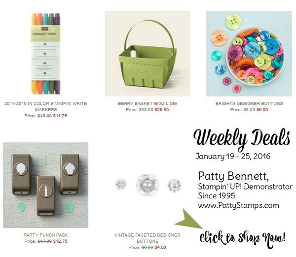 Weekly deals jan 19 pattystamps shop now