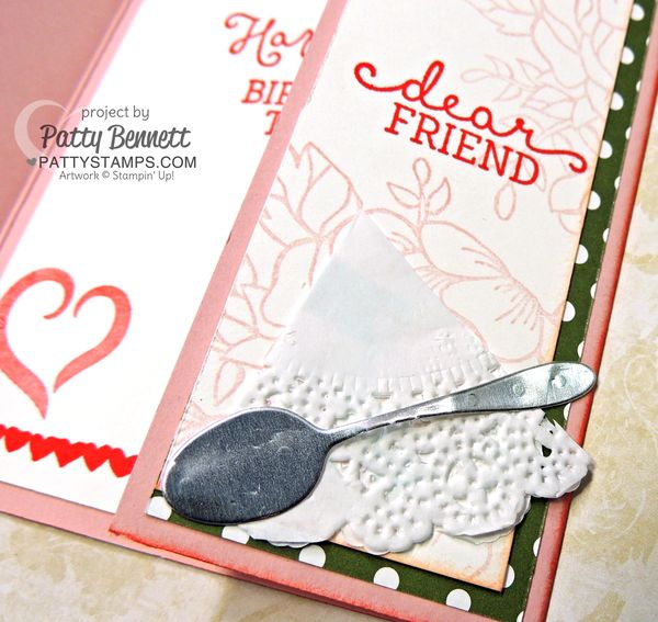Cups-and-kettles-gate-fold-card-birthday-bouquet-spoon-doily-pattystamps