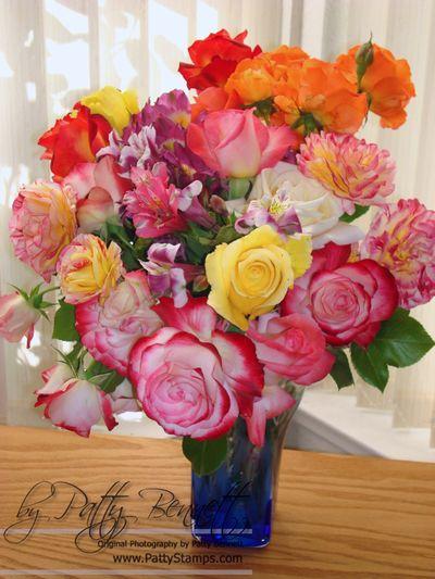 Patty bouquet roses alstromeria
