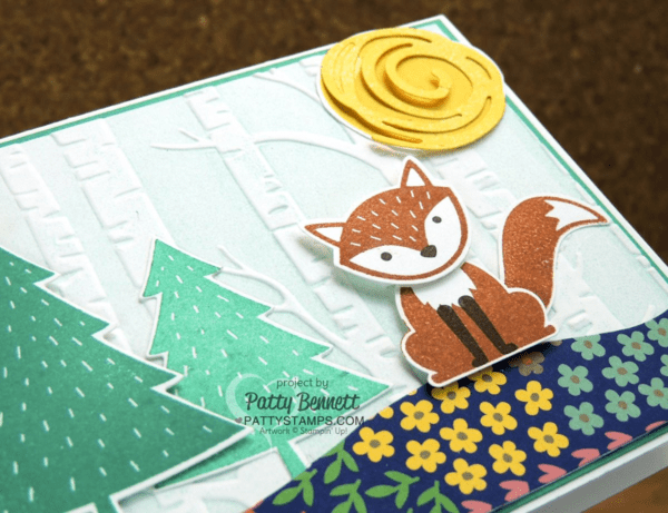 Foxy Friends Stampin' Up! cards with the Woodland Embossing Folder - available beginning June 1, 2016. Cards by demonstrator Patty Bennett