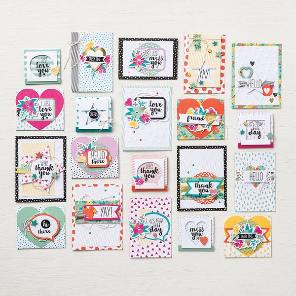 142725 oh happy day card kit cards stampin up