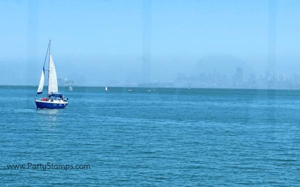 San Francisco Bay from the Spinnaker restaurant, Sausalito California