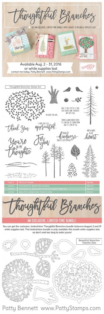 Thoughtful Branches Bundle Stampin Up pattystamps