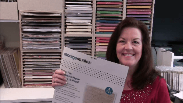 12x12 Stampin' Up! paper storage solution update from Patty Bennett at pattystamps.com
