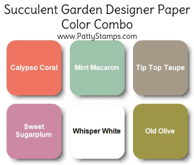 Stampin' Up! Succulent Garden designer paper color combo