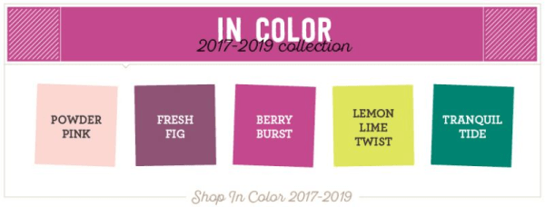 Shop for the Stampin' Up! 2017-2019 In Color products online anytime - click shop online at www.PattyStamps.com