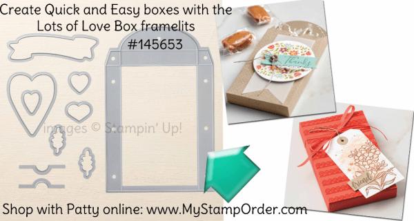 145653 Lots to Love Box framelit dies from Stampin' UP! shop online at www.MyStampOrder.com