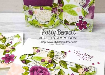 Tea Together Card with Floral Romance Vellum