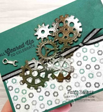 Embossing Tips for Garage Gears Masculine Card