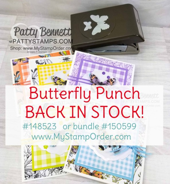 Butterfly duet punch and Butterfly Gala bundle are back in stock in my Stampin' Up! store! www.MyStampOrder.com