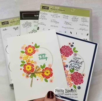 Beautiful Bouquet Floral Wreath Card