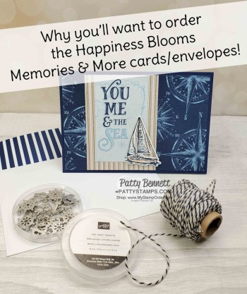 Happiness Blooms Cards & Envelopes with Come Sail Away!
