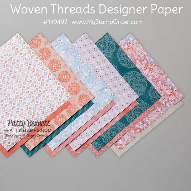 149497 Woven Threads designer paper from Stampin' Up! for papercrafting and cardmaking. www.MyStampOrder.com