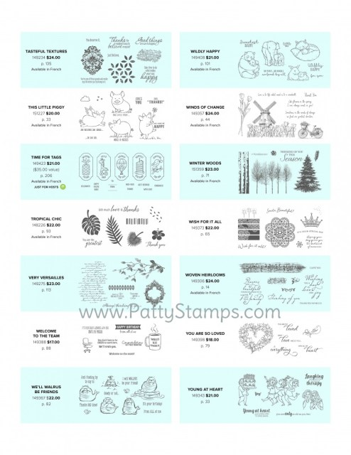 Stampin' Up! Cling Mount Stamps available in the 2019 2020 annual catalog. Patty Bennett www.PattyStamps.com order online www.MyStampOrder.com