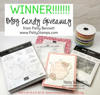 Blog Candy Winner!!