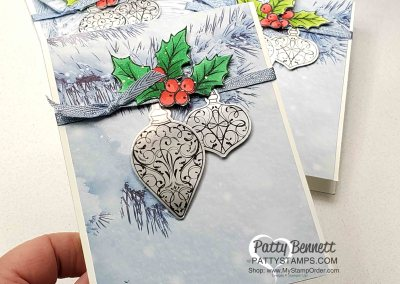 Holiday Card Idea with Christmas Gleaming set