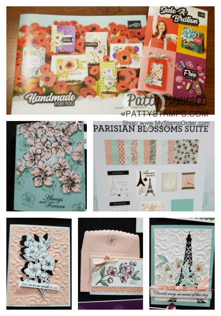 Stampin Up OnStage event, Portland OR Nov 2019. Parisian Blossoms Suite project and card ideas. www.PattyStamps.com