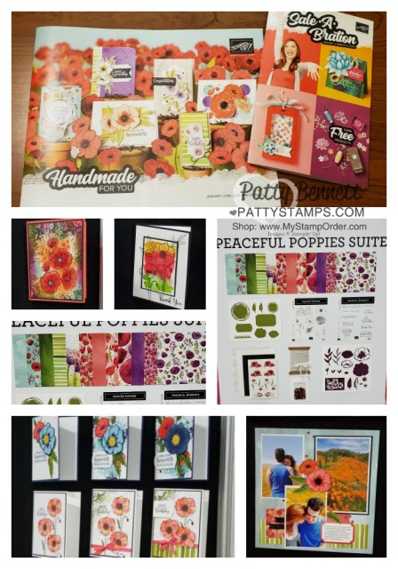 Stampin Up OnStage event, Portland OR Nov 2019. Peaceful Poppies Suite project and card ideas. www.PattyStamps.com