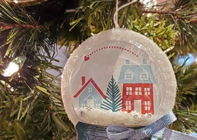 Snow Globe Shaker Christmas Ornament