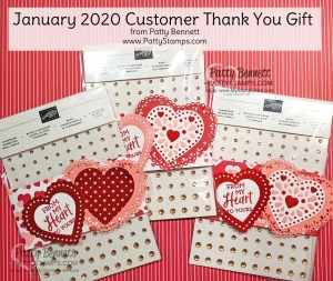 Customer Thank You Gift for January Stampin' UP! orders from Patty Bennett, www.PattyStamps.com