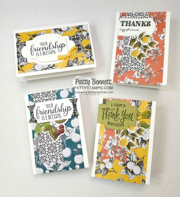 Botanical Prints card kit ideas by Patty Bennett. Stampin' Up! papercrafting and cardmaking kits www.PattyStamps.com