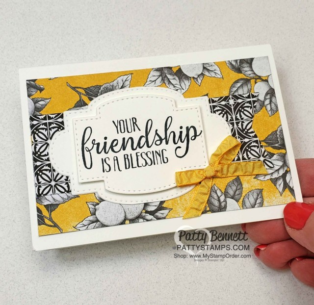 Botanical Prints card kit idea with So Sentimental bundle, by Patty Bennett. Stampin' Up! papercrafting and cardmaking kits www.PattyStamps.com