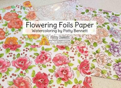 Watercoloring on Flowering Foils Designer Paper