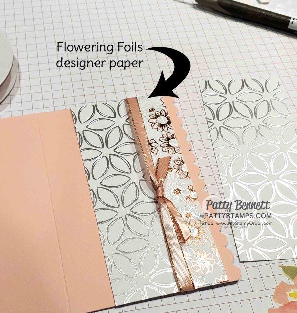 Stampin Up Flowering Foils Sale-a-Bration designer paper www.PattyStamps.com