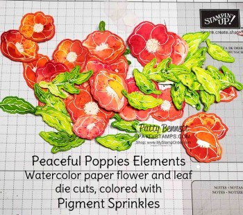 Pigment Sprinkles Poppy Elements flowers