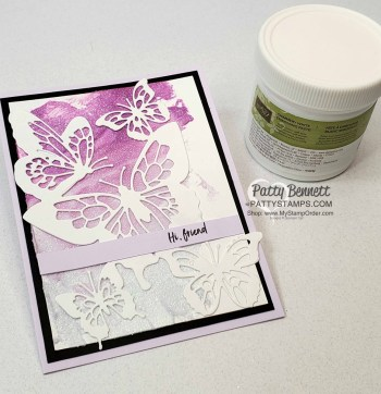 Shimmery White Embossing Paste Background Technique