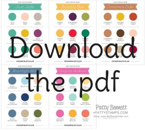 Download the pdf for   Stampin' Up! 2020-2022 In Color Coordinating Colors Chart  www.PattyStamps.com