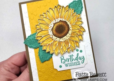 Sunflower colored with Stampin' Blends