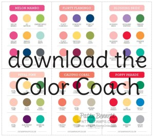 Download the pdf for   Stampin' Up!  Coordinating Colors Chart  - Color Coach. www.PattyStamps.com