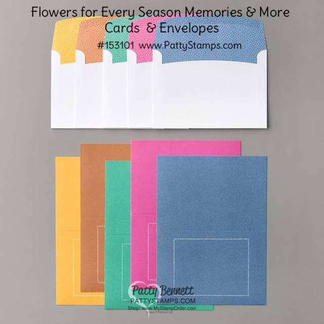 153101 Flowers for Every Season Memories & More cards & envelope pack from Stampin' UP! www.PattyStamps.com