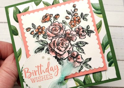 Fancy Phrases Stampin' Blends Square Card Idea