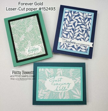 Forever Gold Laser-Cut Cards