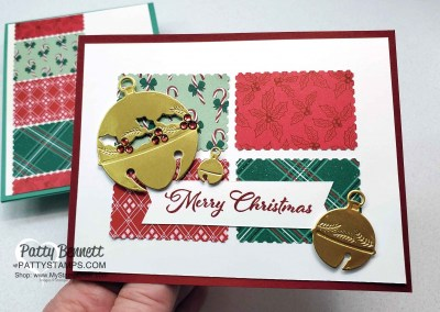 Postage Stamp Punch Christmas Card Ideas