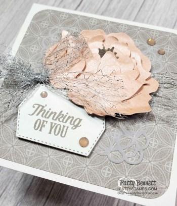 Gray Granite & Petal Pink Peony Cards