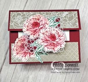 Merry Merlot Prized Peony Gift Card Holder