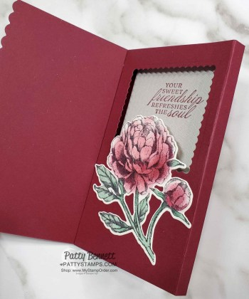 Fun Fold Diorama Card with Prized Peony